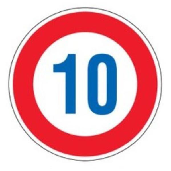 標識 道路標識 平リブタイプ 反射 10キロ 道路323-10K AL ( 送料無料 安全標識 表示 表示シート 構内 平リブ標識 )【5000円以上送料無料】