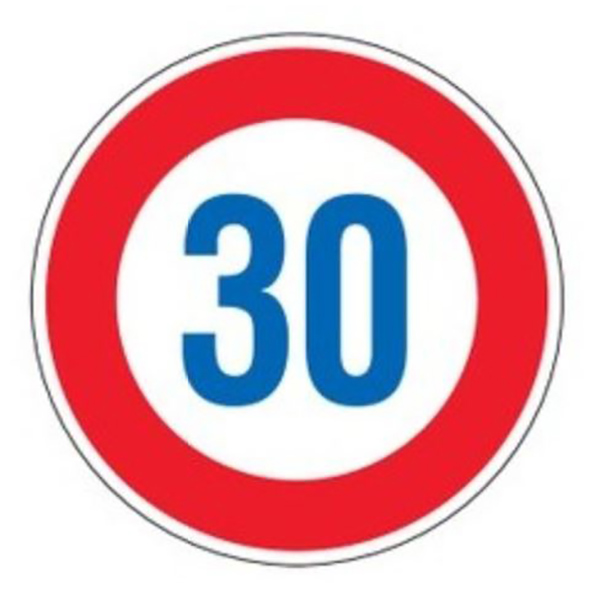 標識 道路標識 平リブタイプ 反射 30キロ 道路323-30K AL ( 送料無料 安全標識 表示 表示シート 構内 平リブ標識 )【5000円以上送料無料】