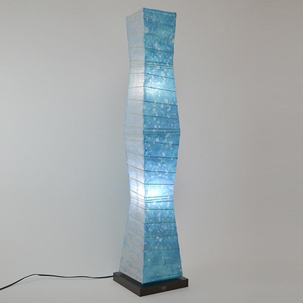 フロアライト 和紙 ラグーンX小倉流紙ブルー 2灯 ( 送料無料 フロアスタンド 照明 スタンドライト LED フロアスタンドライト おしゃれ 照明器具 スタンド照明 中間スイッチ 間接照明 国産 日本製 ) 【39ショップ】