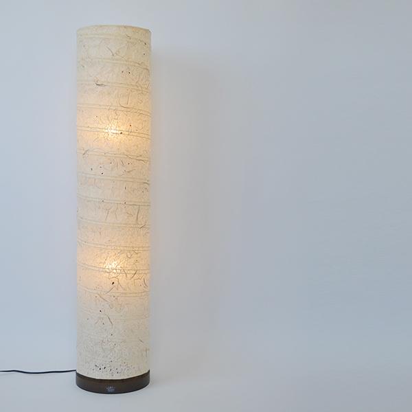 フロアライト 高さ104cm 直径22cm spiral スパイラル 落水雲龍 B-131 ( 送料無料 照明 スタンド照明 ライト スタンドライト LED対応 間接照明 照明器具 和風 和紙 リビング 玄関 和室 )【39ショップ】
