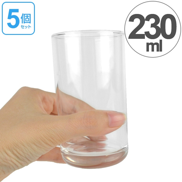 8 oz. tumbler set-glass tumbler 230 ml 5 customers (food washing machine  for glass tumbler cups glass Dinnerware glass cups 8 oz 5 pieces)