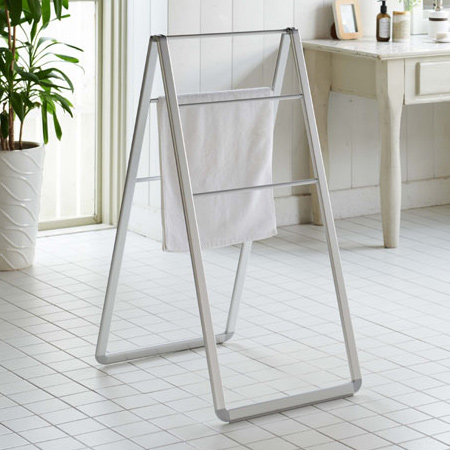 towel stand vintage laundry stand ippin astyle washing drying towel folding drying indoor clothesline compact small rooms dried weight interiorpalette