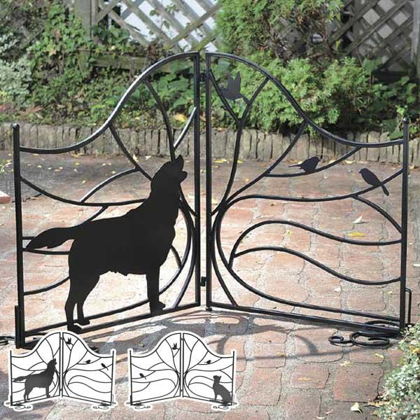 シルエットゲート Tree&Dog Tree&Cat ( 送料無料 柵 ゲート 仕切り 折りたたみ式 エクステリア おしゃれ 衝立 犬 DOG 猫 ネコ CAT セトクラフト )【5000円以上送料無料】