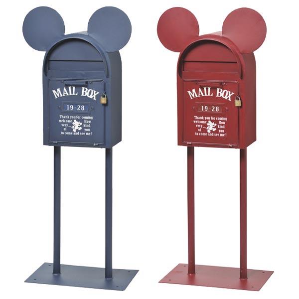 郵便ポスト スタンドタイプ ヴィンテージミッキー ミッキーマウス ( 送料無料 ポスト 郵便受け メールボックス レトロ ディズニー セトクラフト )【5000円以上送料無料】