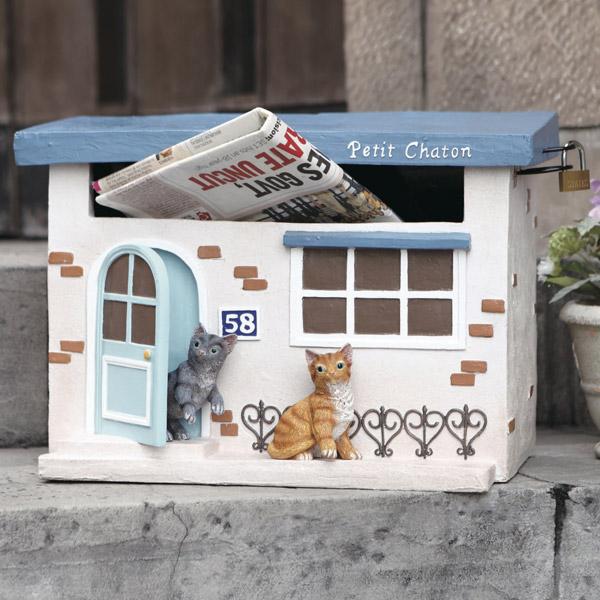 郵便ポスト 置き型 Chaton ( 送料無料 ポスト 郵便受け メールボックス 猫 ネコ セトクラフト )【5000円以上送料無料】
