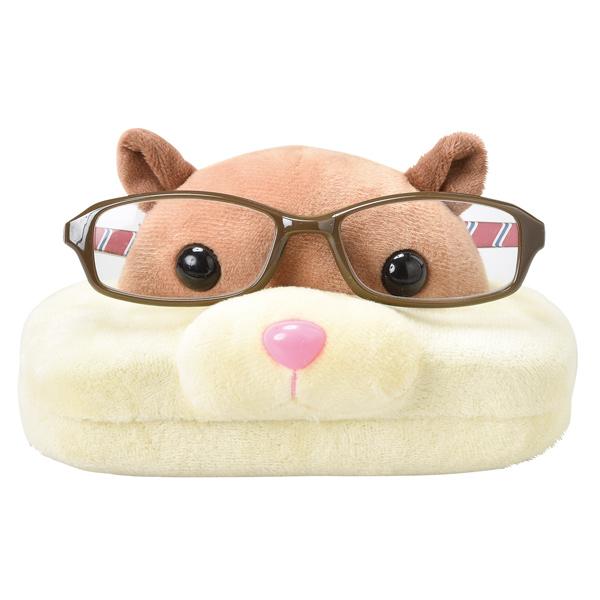 メガネスタンドとケースが一緒になったメガネスタンドケース メガネスタンド ハムスター 眼鏡ケース 収納 メガネ 眼鏡 スタンド ケース ぬいぐるみ メガネ置き 超安い めがね 卓上 はむすたー サングラス 1年保証 めがねスタンド 39ショップ 2way グラススタンド
