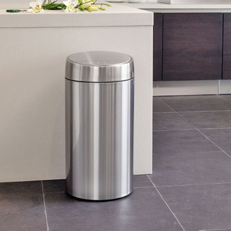 brabantia(burabanshia)灰尘箱放映装置瓶子45L FPP垫子|有有垃圾箱垃圾箱灰尘BOX kuzukagogomibakokuzu进入,有漂亮的osharetorasshubokkususuraidosutenresu盖子的盖子的盖子的盖子从属于的盖子从属于的厨房