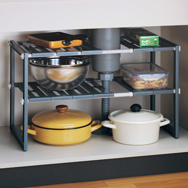 Kitchen Storage Cabinet Sink Under The Freak 2 Stage Stretch (organizing  Shelf Kitchen Storage Storage Rack Kitchen Rack Frying Pan Pot Storage  Shelf ...