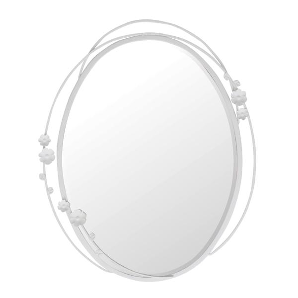 ウォールミラー オーバル型 3Dアイアンフレーム かがみ ブルームR 幅50cm ( 送料無料 カガミ 鏡 ( ミラー 壁掛け 壁掛けミラー 壁面ミラー 姿見 吊り鏡 壁掛け鏡 かがみ カガミ )【5000円以上送料無料】, オーダーカーテンの店メルサ:d273d311 --- campusformateur.fr