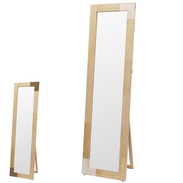 スタンドミラー 天然木フレーム オイル仕上げ KACCO 幅60cm ( 送料無料 鏡 ミラー 全身 姿見 木製 全身鏡 木製鏡 姿見鏡 スタイルミラー 木製フレーム スタンド かがみ カガミ )【5000円以上送料無料】
