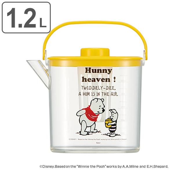 冷蔵庫から すぐ卓上へ 冷水筒 税込 1.2L POOH コミック くまのプーさん 冷茶ポット ピッチャー 価格 交渉 送料無料 茶こし付き プラスチック製 耐熱 キャラクター 39ショップ 熱湯 ディズニー 麦茶ポット 麦茶 プーさん ジャグ ポット プラスチック 茶こし 冷茶 冷水ポット