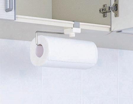 Hanging Door Scissors For Paper Holder Kitchen Storage Towel Roll Cupboard