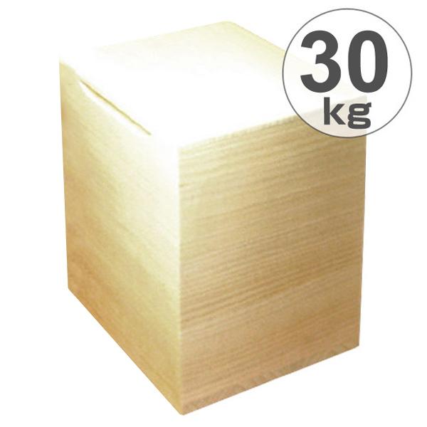 米びつ 桐製 30kg 無地 ( 送料無料 米櫃 ライスボックス ライスストッカー 30kg用 30キロ 桐 和風 桐製米びつ お米 収納 キッチン収納 ストッカー 保存 キッチン こめびつ ) 【5000円以上送料無料】