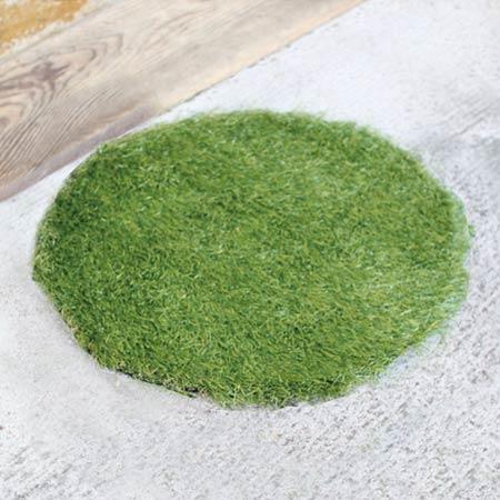 Door Mat Outdoor GRASS MAT ROUND S (turf Artificial Grass Mat Conspicuously  Entrance Mats, Outdoor Mat Of For Round)
