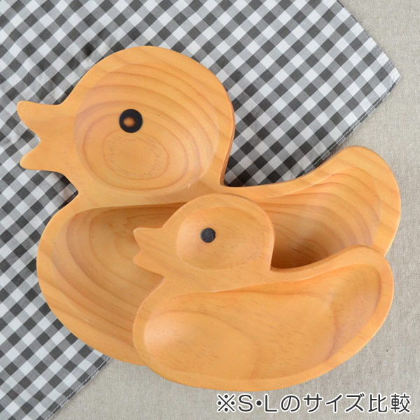 トレイ プチママン 木製 ランチプレート L 子供用 アヒル ( プレート トレー 木製食器 食器 キッズ用食器 子供用食器 子ども用 お皿 木 )