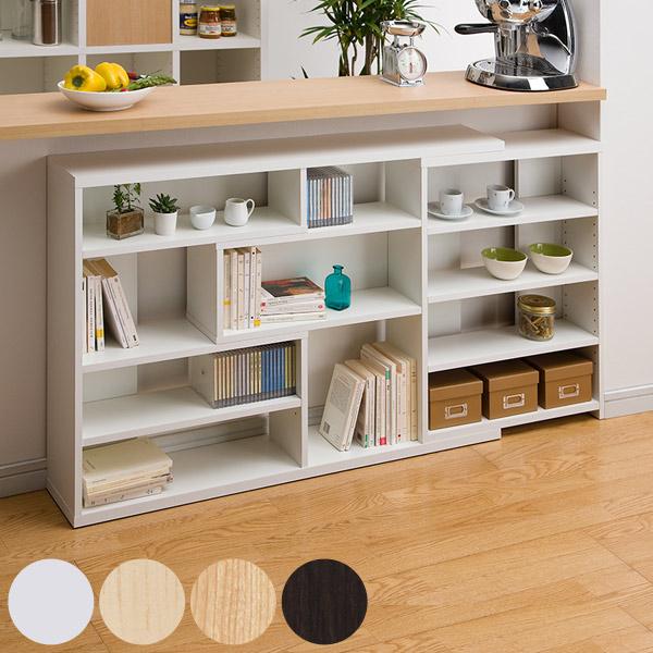 Counter Lower Storage Flat Shelf Slim Height 80 Cm 118 To 155 Telescopic Feature Windows Under The Bookshelf Rack About 20 Depth