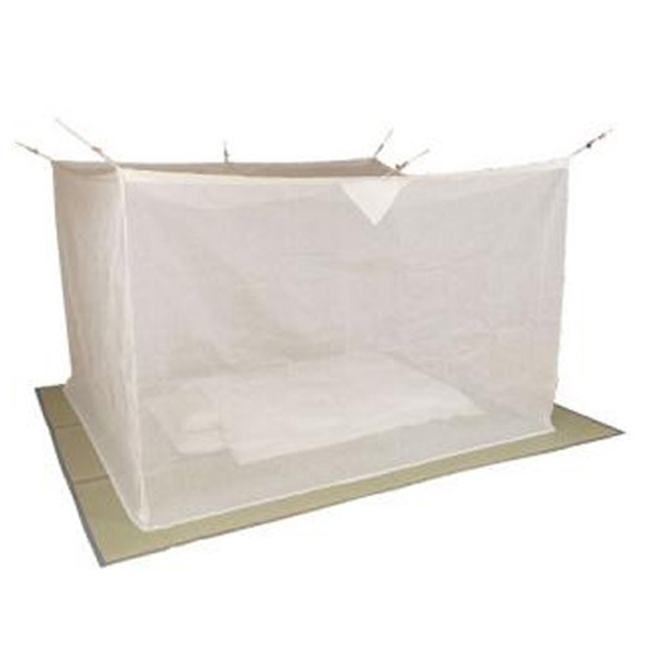 夏を涼しく快適に!質感がさわやかな麻の蚊帳 片麻蚊帳(かや) 4.5畳 生成り 送料無料 【5000円以上送料無料】