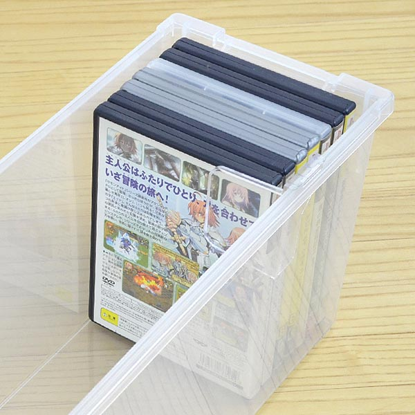 DVD収納ケース いれと庫 DVD用 ( 収納ケース メディア収納ケース フタ付き プラスチック製 収納ボックス DVD用 ブルーレイ Blu-ray ゲームソフト 仕切り板付き ) 【5000円以上】