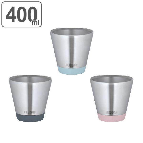 真空断熱カップ サーモス(thermos) 400ml 結露しない 保温 保冷 JDD-400 ( ステンレス製 カップ コップ ステンレス食器 食洗機対応 ) abcdefg