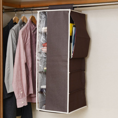 Closet Storage Hanging Hanging Rack With Five Plus One (hang Hanger Rack  Fabric Shelf Storage Case Costume Case Closet Storage Ideas Clothing  Storage) ...