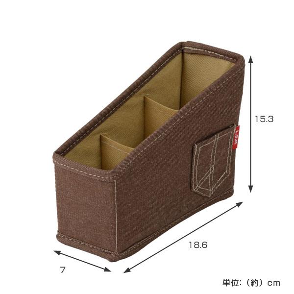 遥控框L.S.M. 粗斜纹布收藏框折叠式的算式(起笔,起遥控,有小东西收藏小袋子布制造遥控)