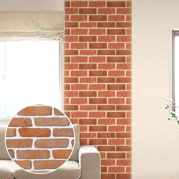 シールカベデコ Kabedeco Sticker 120cm Brown Brick Decorations Sticker Wall Sticker To Put Wall Paper Seal Interior Seal Wall Seal Wall デコウォールデコ And To Be