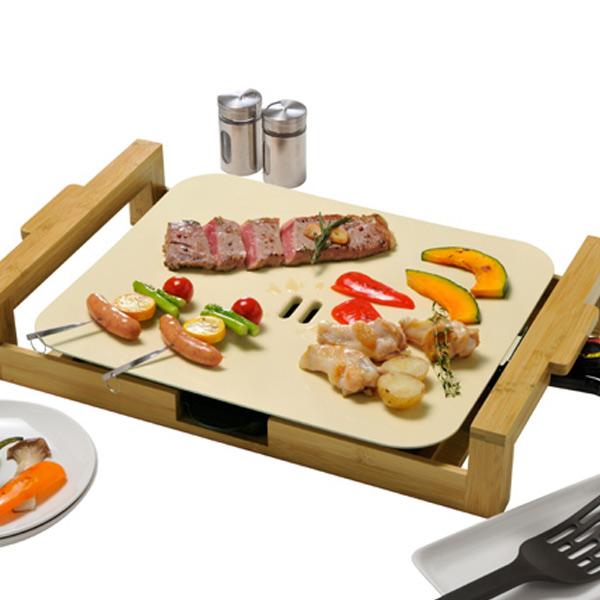 グリルプレート Chef セラミックグリルプレート ( 送料無料 ホットプレート 調理器具 キッチン家電 セラミックコーティング 白 ホワイト 調理用品 )