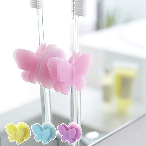 Hook Tooth Brush Toothbrush Hook Toothbrush Holder Silicone Butterfly  (toothbrush Stand Toothbrush Stand Toothbrush Every Toilet Sanitary Storage)
