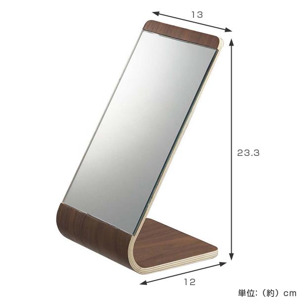 Mirror Table Mirror Stand Rin RIN (tabletop Mirror Wooden Kagami Mirror  Fashionable Yamazaki Business Nordic)
