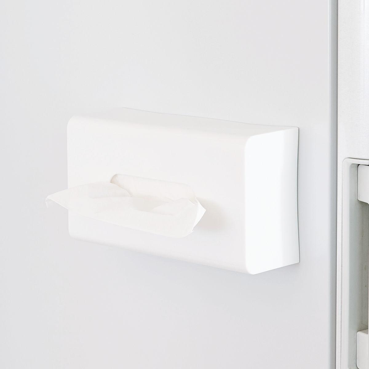 いつも使う場所にぴたっとくっつくマグネットティッシュホルダー ティッシュペーパー 収納 キッチン収納 ティッシュホルダー マグネットボックスティッシュホルダー 39ショップ ティッシュペーパーボックスホルダー 冷蔵庫横 磁石 男女兼用 Mag-On 再販ご予約限定送料無料