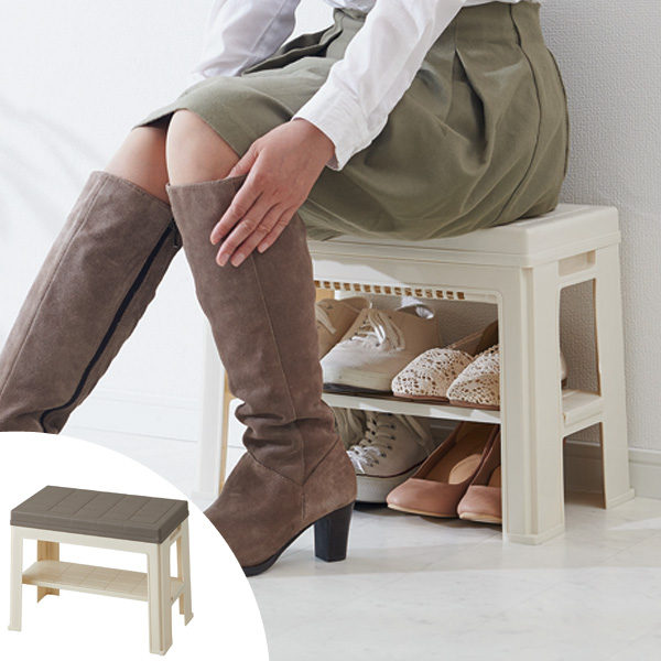Porch Bench Entrance Bench (shoe Rack Storage Stool Stylish Chair Shoes  Boots Porch Bench Door Storage Some Storage Rack Japan Made) | New | 10  05P24Oct15