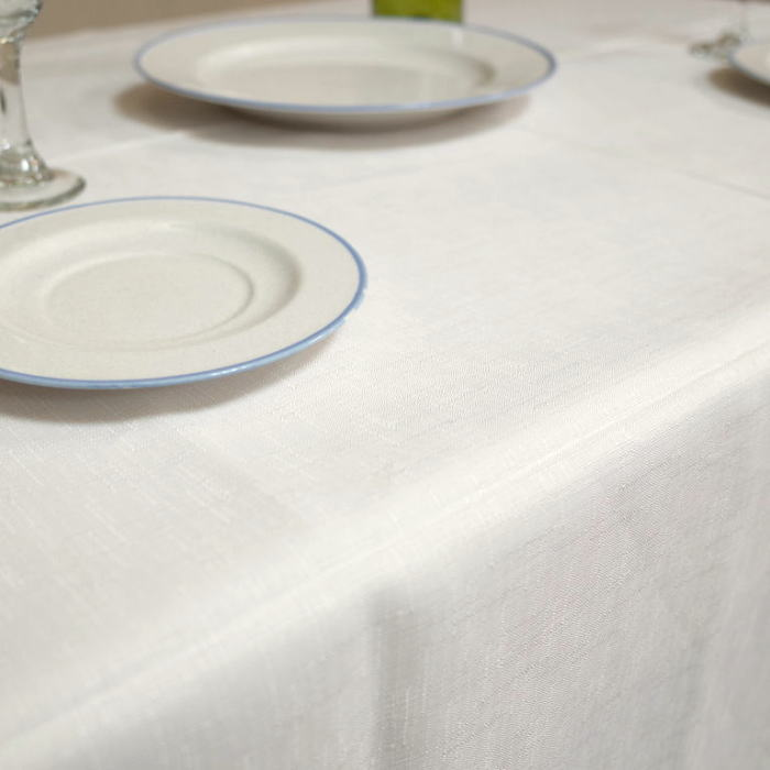 テーブルクロスバニラ テーブルクロス 撥水加工北欧 撥水無地のテーブルクロス キャンバス 140×180cmバニラ