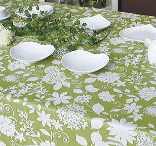 テーブルクロス ベロニカ幅130cmで20m巻の反物です端は切りっぱなしさっと拭けるビニール製