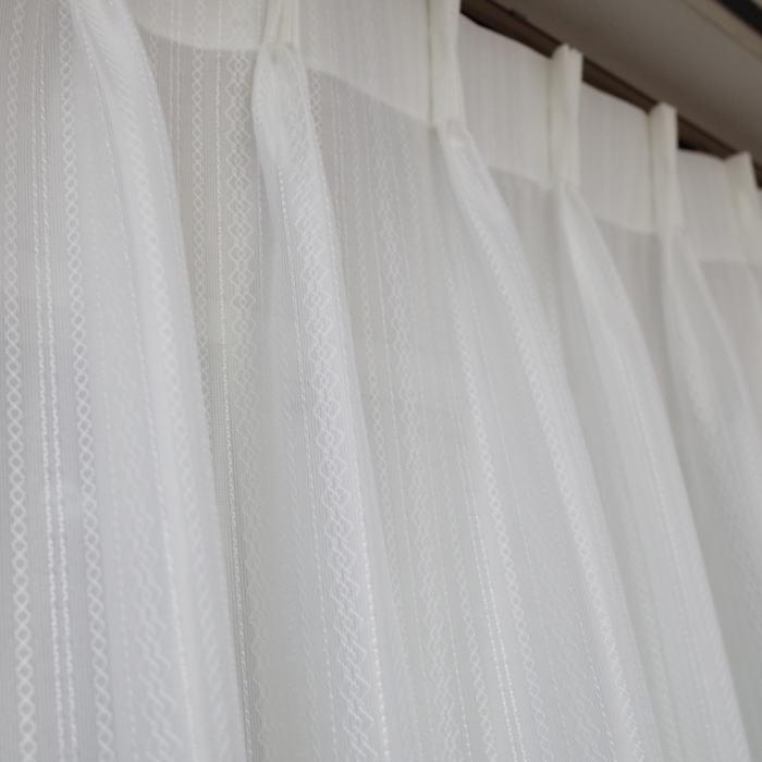 オーダーカーテン 幅約144×170cm 2枚セットミラーレース 2倍ひだ 洗えるレースカーテン 定価36,000円の品作成ミスにより処分価格