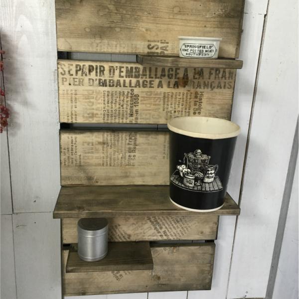 シェルフ 木製 棚 収納棚 ラック ディスプレイ棚 男前インテリア レトロ 壁掛け棚 おしゃれ 西海岸 カリフォルニアスタイル オールドウッドカラー 古木色