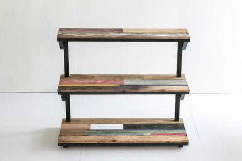 棚 木製 収納 整理棚 テーブル カリフォルニアスタイル 3段 送料無料 受注制作 カリフォルニアスタイルディスプレイ台