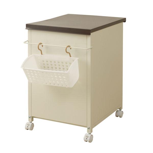 日本製 省スペース 洗濯用 収納 ボックス ブラウン色 NJ-0163【代引きのみ】