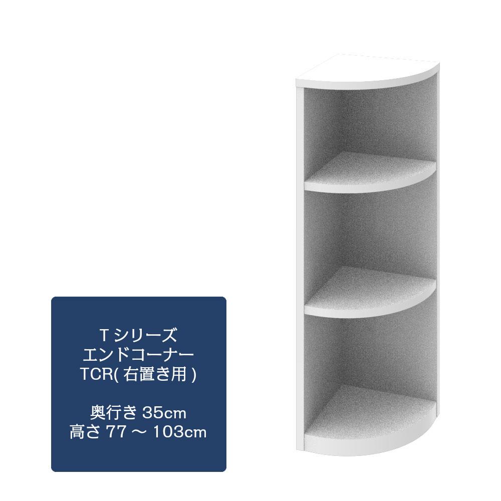 カウンター下 すきまくん 奥行35cm エンドコーナー TCR 右置き用【代引き不可】