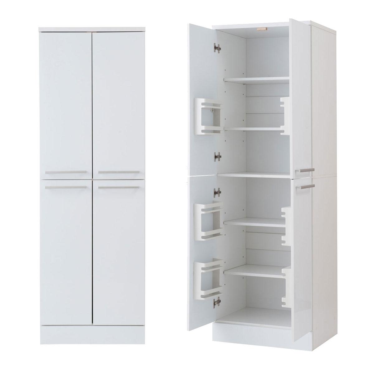 キッチンシリーズ Face 大容量 キッチンストッカー 幅60 ホワイト FY-0041【代引きのみ】