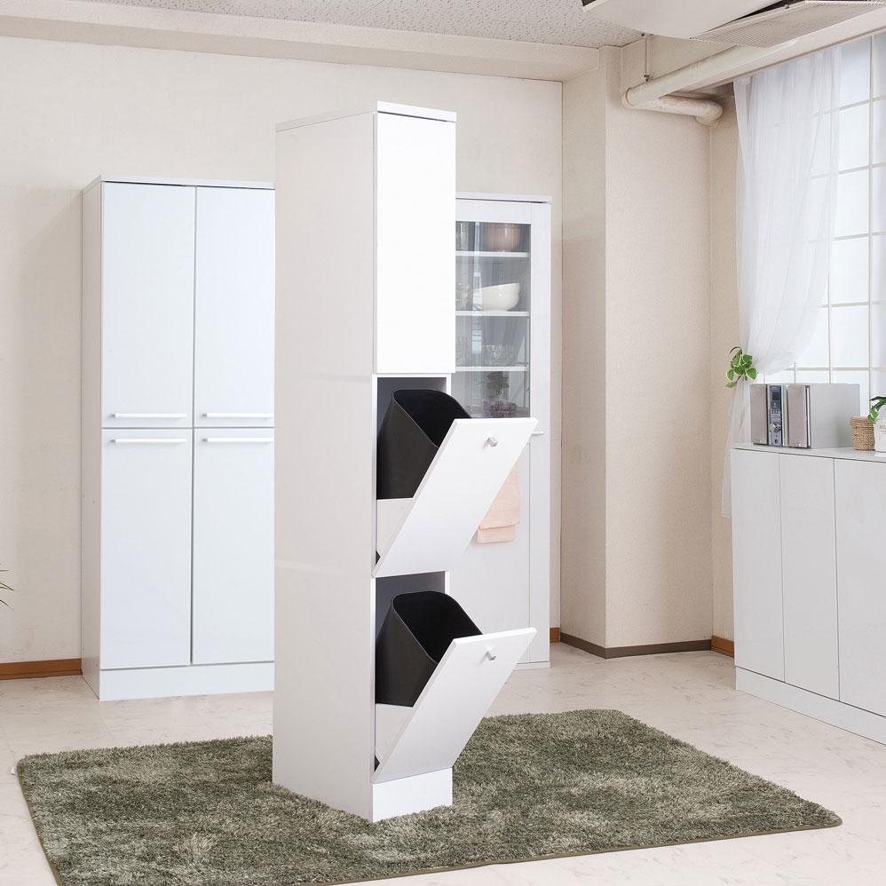 キッチンシリーズ Face スリム 2分別 幅25 ホワイト FY-0050【代引きのみ】