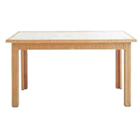 <マラソン期間中使えるクーポン配布中♪>ロイドルーム Lloyd Loom ダイニングテーブル No.1207(ガラス付) おしゃれ アンティーク 食卓 机 テーブル 140cm幅【代引き不可】