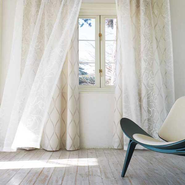 カーテン プレーンシェード アスワン セラヴィ C'estlavie Design Lace E7212 スタイリッシュウェーブ縫製 約2倍ヒダ