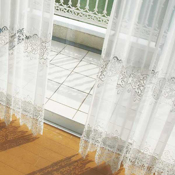 カーテン プレーンシェード アスワン セラヴィ C'estlavie Design Lace E7217 ハイグレード縫製 約2倍ヒダ