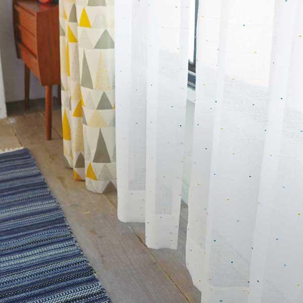 カーテン プレーンシェード アスワン セラヴィ C'estlavie Design Lace E7227 ハイグレード縫製 約2倍ヒダ