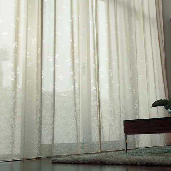 カーテン プレーンシェード アスワン セラヴィ C'estlavie High Spec Lace E7263 ウェイトテープ縫製 ヨコ使い 約1.5倍ヒダ