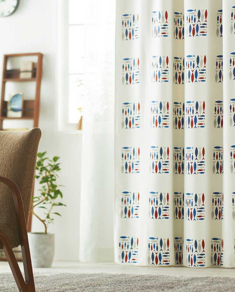 【スーパーSALE】カーテン アスワン YESカーテン K0196 スタイリッシュウエーブ縫製 約2倍ヒダ