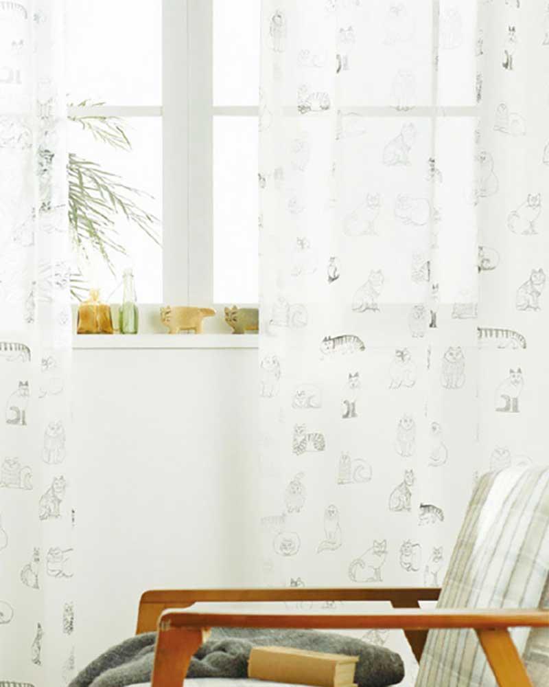 【スーパーSALE】カーテン アスワン YESカーテン K0223 ハイグレード縫製 約2倍ヒダ