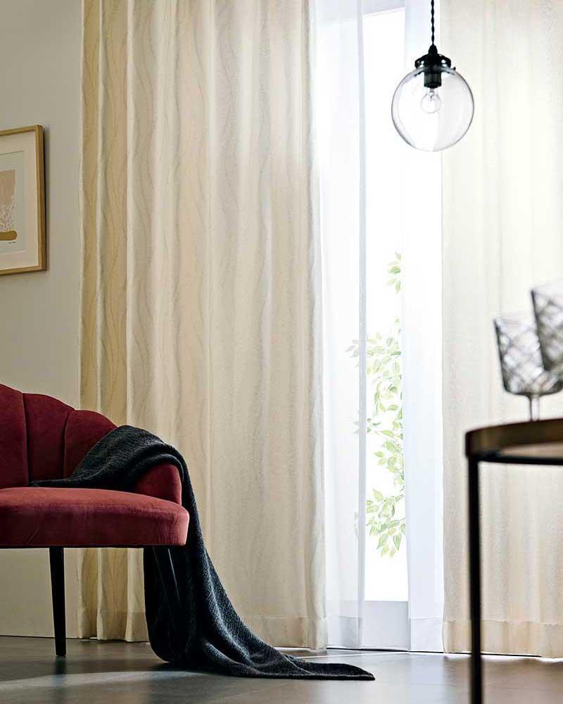 カーテン プレーンシェード アスワン YESカーテン R0007~R0010 厚地+レース お買い得セットプラン:ハイグレード縫製 約1.5倍ヒダ