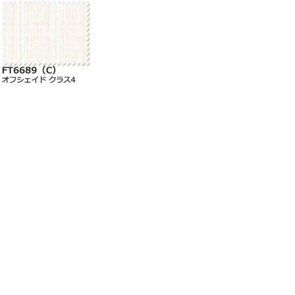 カーテン シェード 川島織物セルコン TRANSPARENCE FT6689 スタンダード縫製 約2倍ヒダ ヨコ使い ウエイトテープ付