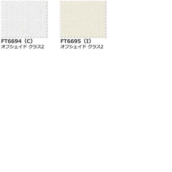 カーテン シェード 川島織物セルコン TRANSPARENCE FT6694~6695 スタンダード縫製 約2倍ヒダ ヨコ使い ウエイトテープ付